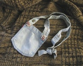 Button Up Denim Pocket Purse