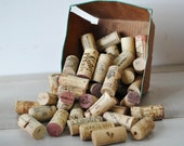 30 natural wine stoppers and corks--art supplies--display