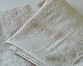Vintage Cotton feed or grain Sack--hemp heavy muslin--treasury item...