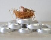 6 vintage bundt pan/donut shaped tin baking-jello molds