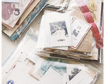 jumbo vintage ephemera pack--altered art, scrapbooking, collage supplies, card making supplies, etc.