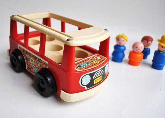 TREASURY ITEM...vintage little people fisher price 1960s mini bus