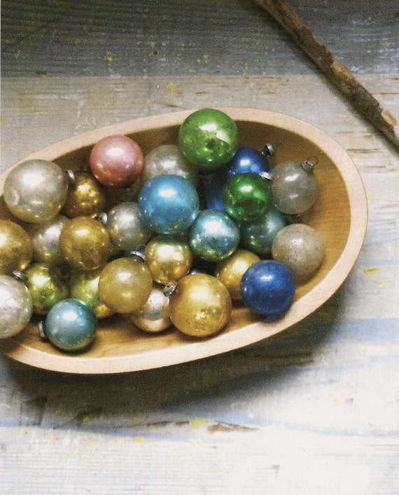 Vintage-Antique Mix of Mercury Glass Ornaments and Christmas Tree Bulbs