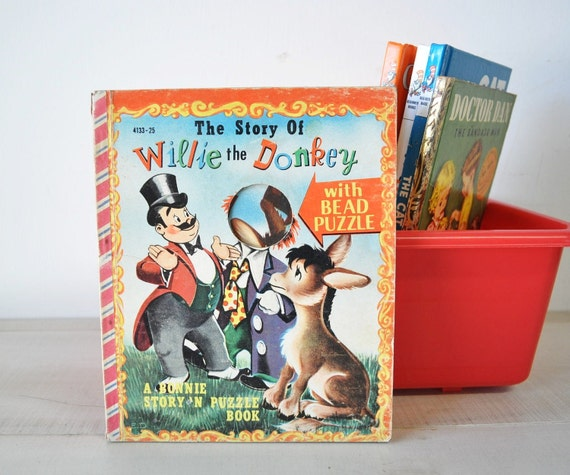 vintage 1950s childrens book--The Story of Willie the Donkey
