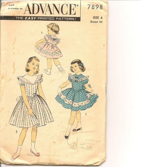 1950s Vintage Size 6 Girls Dress