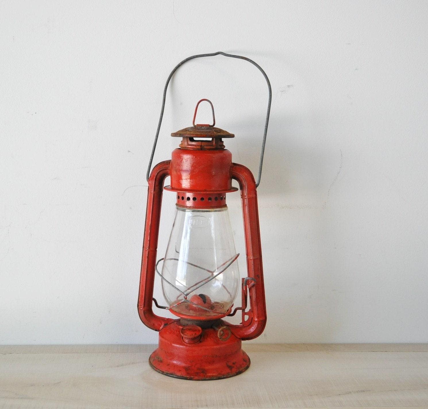 Vintage Red Dietz Junior Oil Lantern