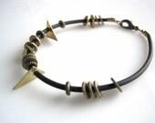 Black and Gold Geometric Bracelet
