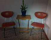 1960s Vinyl & Stainless Duty Chair Set