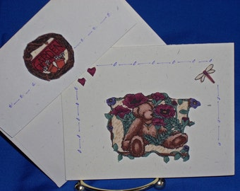 NOTECARDS--Bears and Flowers-2