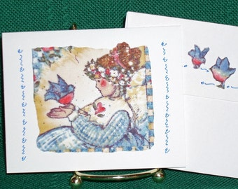 NOTECARDS--Angels and Friends in Fabric Applique