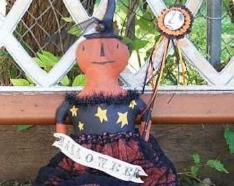 PDF Downloadable Pattern - Hilda the Pumpkin Girl - E-Pattern - Hafair