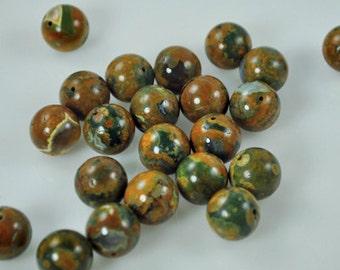 25 Rainforest Agate 14mm Beads (Rain-001)