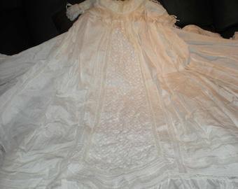 custom heirloom christening gown