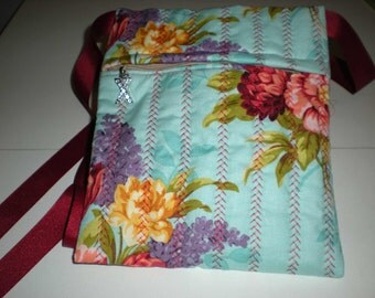 Retro floral print hip bag