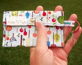 Snap Wallet - Blue with Blue Birds, Flowers, and Trees