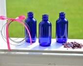DIY cobalt bottle garland vase kit... window fabulousness
