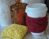 Cable Coffee Cozy Pattern
