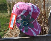 Baby Girl's Military Style Cap, Powerful Pink