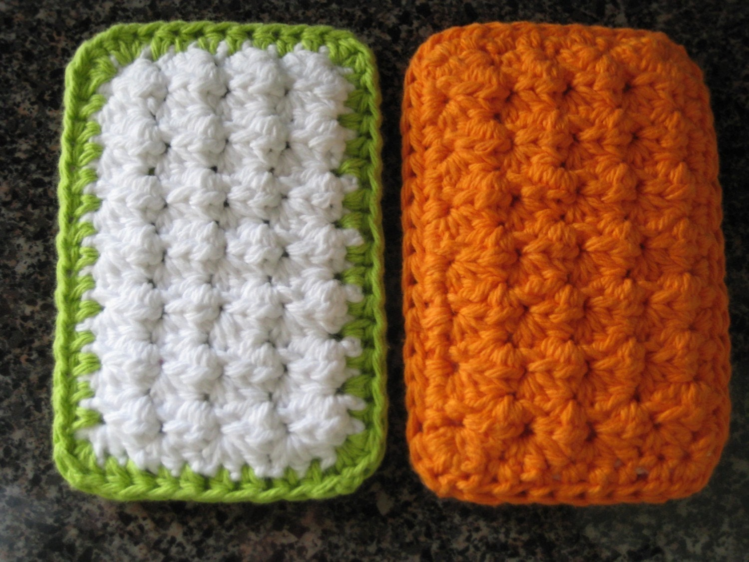 Crocheting Scrubbies With Netting : PATTERN Cotton Crochet Cloth Sponge Scrubbies PATTERN by buyhand