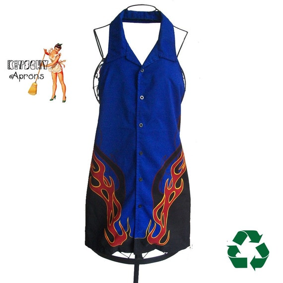 Flames upcycled Apron