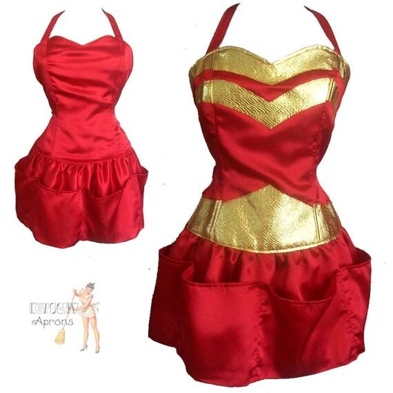 Red Super Hero sexy apron