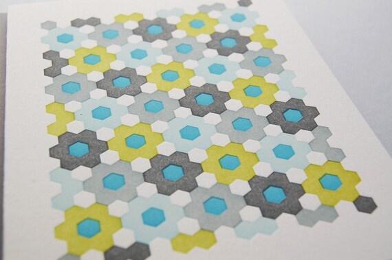 Hexagonal quilt card