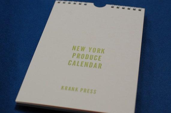New York Produce Calendar