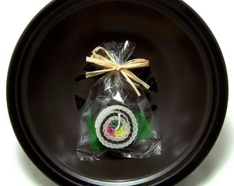 California Roll Sushi Candle Reverse Inside Out Fake Japanese Sushi Party Favor Candles
