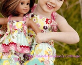 Precious Petals... My Dolly and Me.. Petal Knot Dresses, Custom order, sizes 6 months to size 8