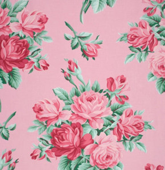 Verna Mosquera, Free Spirit, VERANDA, Rose Bouquet in Blush...one yard