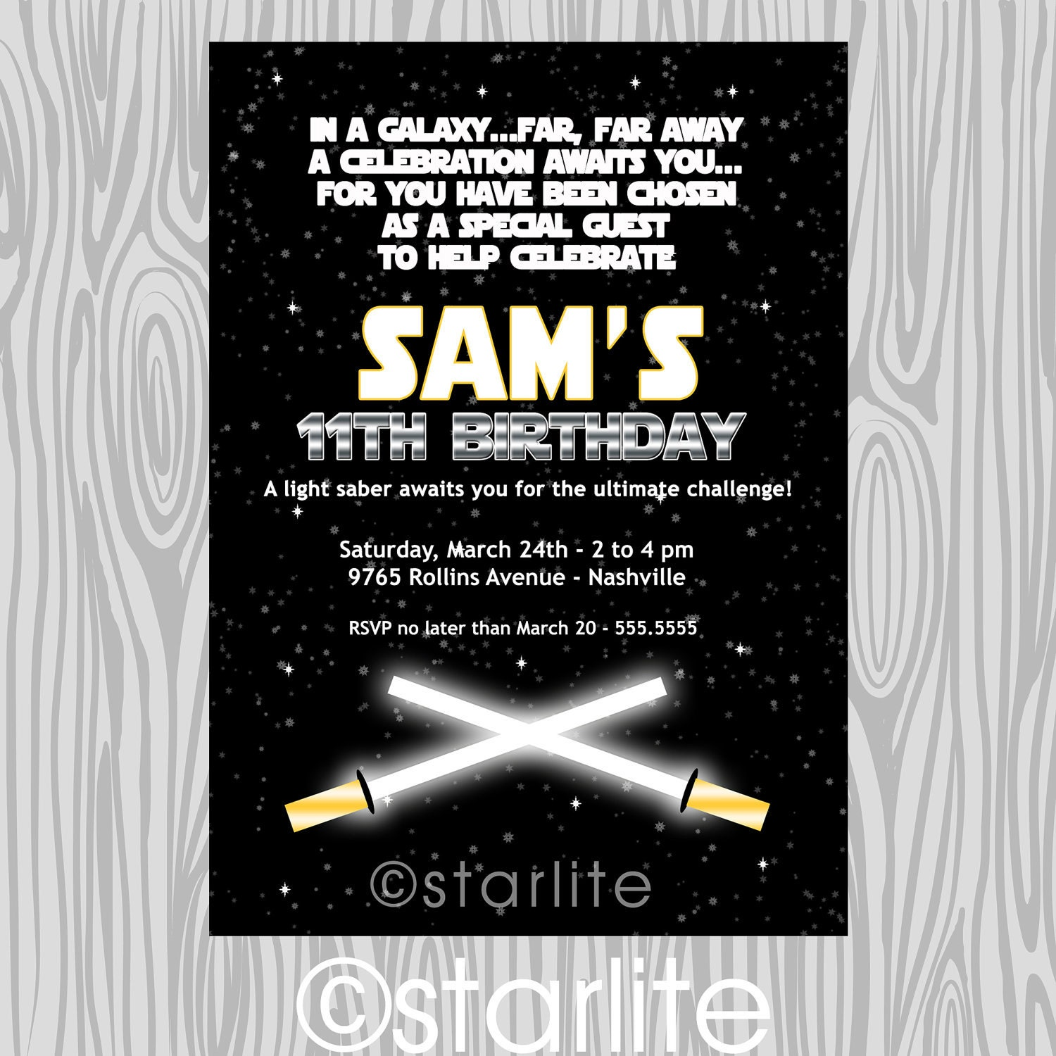 Star Wars Birthday Invitation Template Free with luxury invitation sample