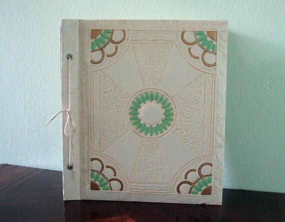 ART DECO Jadeite Vintage Scrapbook Photo Album - Never Used