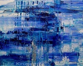 Blue Moon 20x16 Acrylic on Canvas Painting, Original One of a Kind, Gallery Wrapped