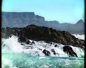 Table Mountain Cape Town South Africa 2- Original Signed Fine Art Photograph 8 x 8 - Julie Kruger