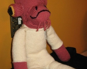 STAR WARS Admiral Ackbar Sock Monkey Knitting Pattern PDF