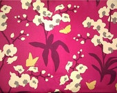 Joel Dewberry Ginseng Orchid Raspberry fabric 1 YARD