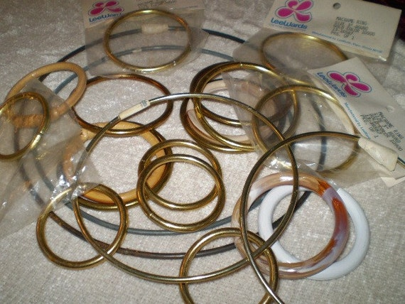 macrame supplies macrame ring supplies lot of 20 all sizes new in packaging 423