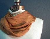 Onion Skin-Alkanet Hand Dyed Silk Scarf