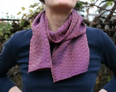 Handwoven Scarf - Purple Quaker Ladies Redux