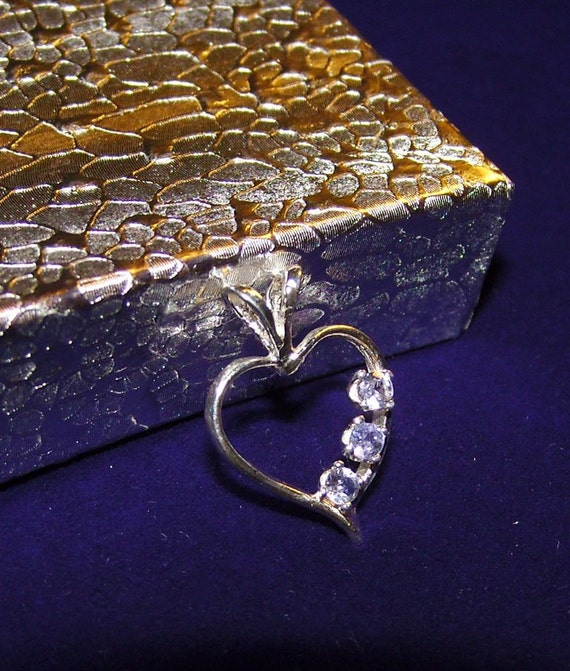 TANZANITE Heart Pendant in Sterling Silver