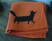 Orange Fox Napkins set of 4