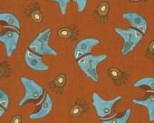 Moda Spirit of the Southwest Terra Cotta Bears Fabric - 1 Yard