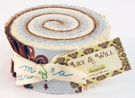 Moda Lily and Will Blue Jelly Roll