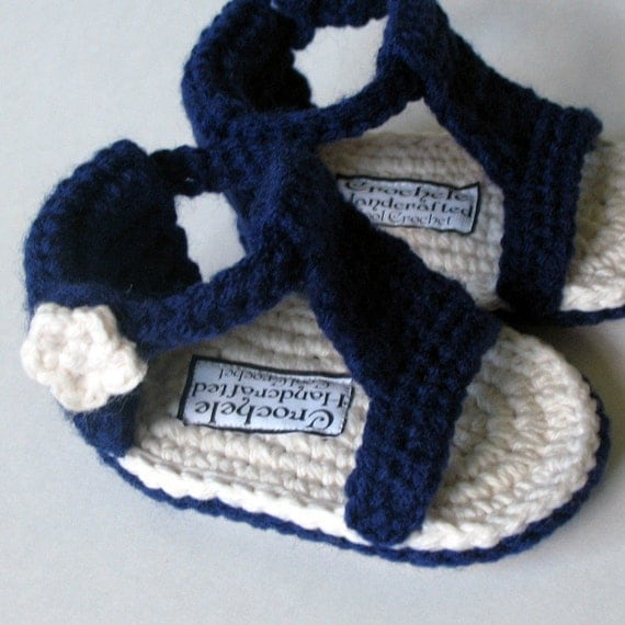 Free Printable Crochet Patterns For Baby Sandals : Baby Gladiator Sandal Crochet Pattern