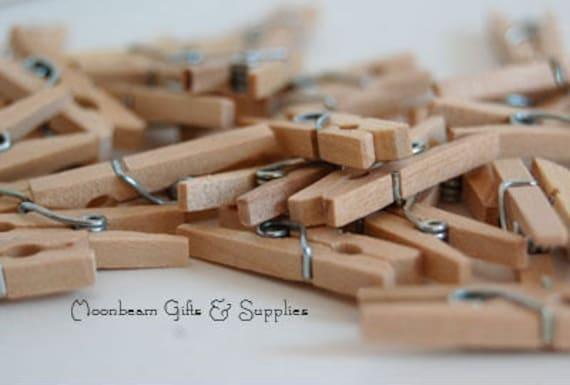 Mini Clothespins, Tiny Clothespins, Rustic Wedding Decor, Little Clothespins, Escort Card Holders, Wish Tree Pins, DIY Wedding Tags