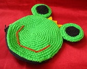 Froggy Prince - Crocheted Purse\/Pouch