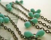 Aqua dew drops necklace