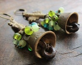 Tintinnabulum - Vintage Brass Bell Earrings