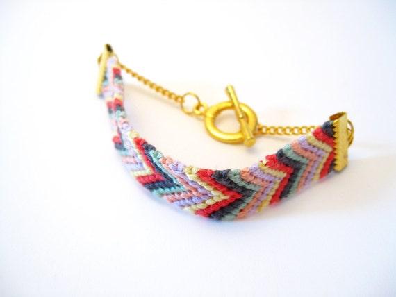 B.F.F Bracelet Red, Blue, Yellow  & Chevron