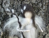 Needle Felted Waldorf Pussy Willow Flower Fairy